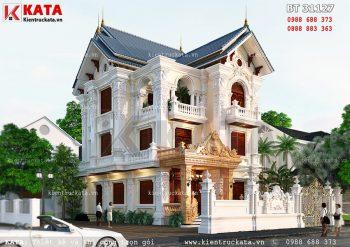 Mẫu biệt thự 3 tầng mái Thái kép tân cổ điển đẹp – Mã số: BT 31127