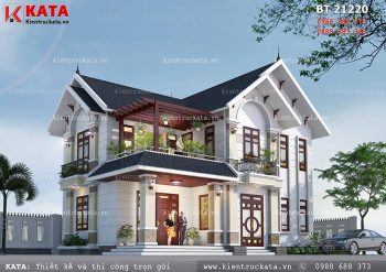 Thiết kế biệt thự đẹp 2 tầng mái Thái tại Hải Dương – Mã số: BT 21220