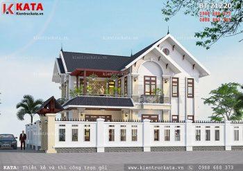 Mẫu biệt thự hiện đại 2 tầng mái thái tại Hưng Yên – Mã số: BT 21220