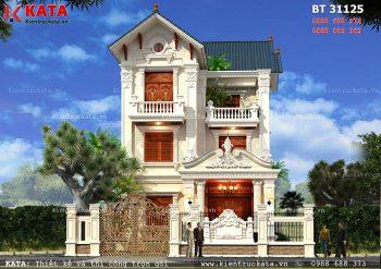 Mẫu thiết kế biệt thự 3 tầng mái Thái tại Hải Phòng – Mã số: BT 31125