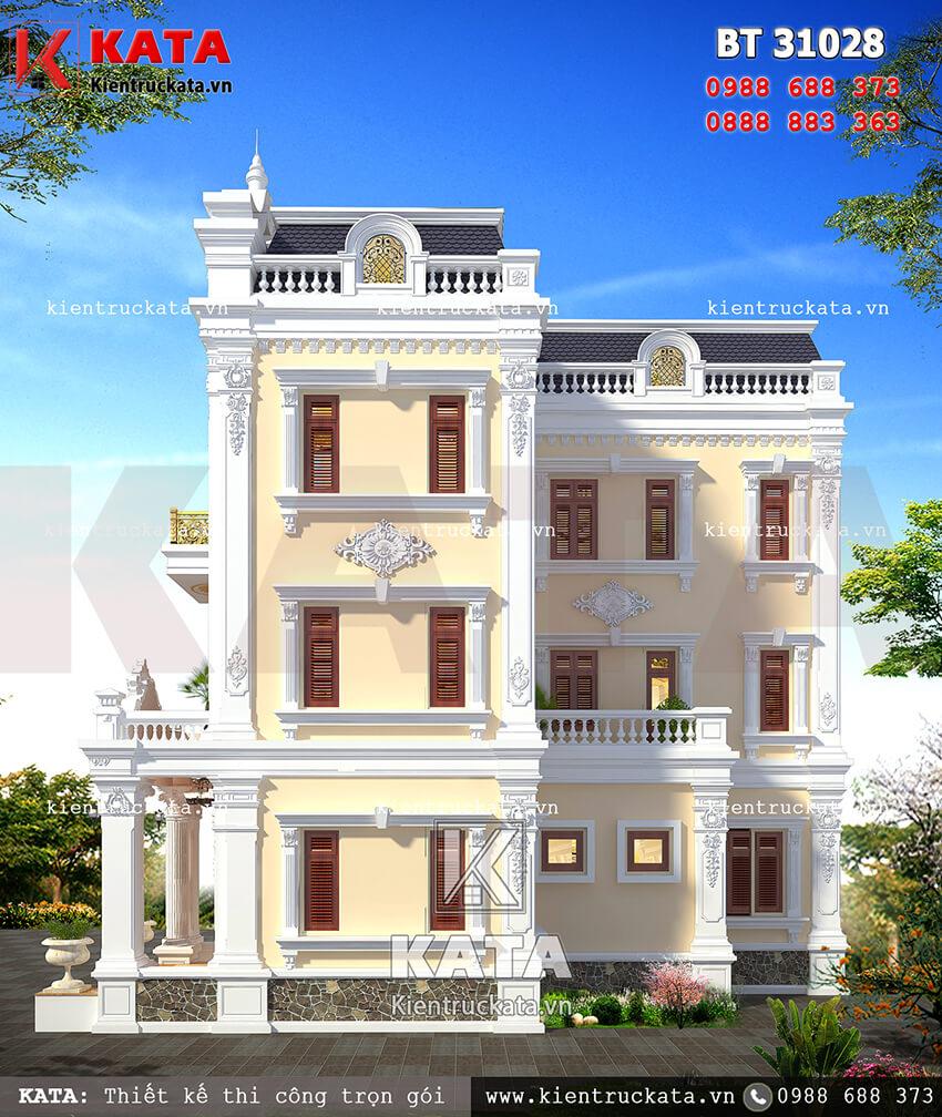Một góc nhìn của mẫu thiết kế biệt thự vườn 3 tầng tại Quảng Ninh