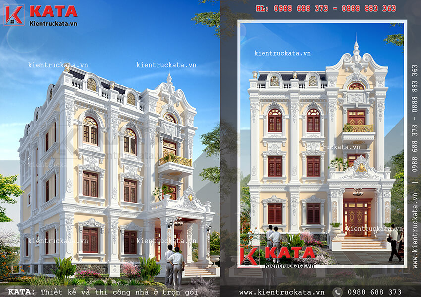 Bản thiết kế biệt thự vườn 3 tầng tại Quảng Ninh sang trọng và đẳng cấp