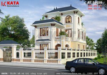 Biệt thự 3 tầng kiểu Pháp đẹp tân cổ điển tại Đà Nẵng – Mã số: BT 31058