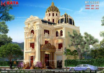 Thiết kế biệt thự lâu đài 3 tầng cổ điển tại Ninh Hiệp, Hà Nội – Mã số: BT 31225