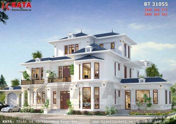Mẫu thiết kế biệt thự 3 tầng mái thái đẹp tại Sơn La – Mã số: BT 31055