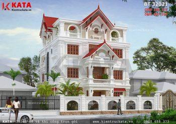 Biệt thự Pháp 4 tầng tân cổ điển đẹp tại Lạng Sơn – Mã số: BT 32021