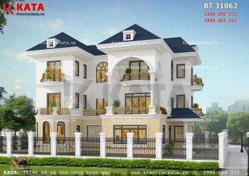 Bản vẽ biệt thự 3 tầng hiện đại tại Quảng Ninh – Mã số: BT 31062