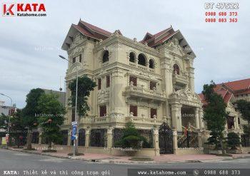 Mẫu thiết kế biệt thự tân cổ điển 4 tầng tại Hải Phòng – Mã số: NP 47522