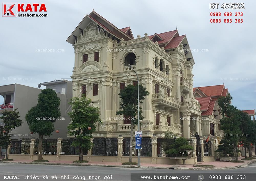 Mẫu thiết kế biệt thự tân cổ điển 4 tầng tại Hải Phòng
