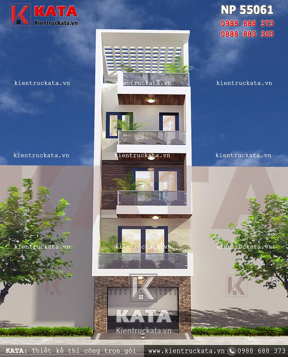 Mẫu thiết kế nhà lô phố 5 tầng đẹp tại Hải Dương - Mã số: NP 55061