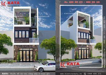 Bản thiết kế nhà ống 3 tầng đẹp tại Đà Nẵng – Mã số: NP 35056