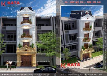 Nhà phố 4 tầng tân cổ điển đẹp tại Bình Phước – Mã số: NP 45012