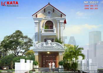 Thiết kế nhà lô phố tân cổ điển 3 tầng tại Hà Tĩnh – Mã số: NP 35027