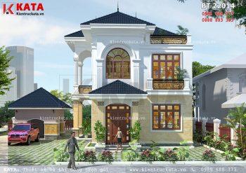 Mẫu nhà vườn 2 tầng mái Thái tại Bắc Ninh – Mã số: BT 22014