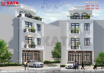 Mẫu biệt thự nhà phố tân cổ điển tại Quảng Ninh – Mã số: NP 45011