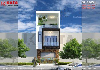 Mẫu bản vẽ thiết kế nhà lô phố 3 tầng tại Cao Bằng – Mã số: NP 35054