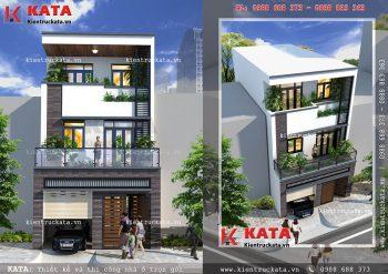 Mẫu nhà 3 tầng đẹp có gara tại Thái Nguyên – Mã số: NP 35060