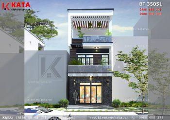 Mẫu thiết kế nhà lô phố 3 tầng hiện đại tại Ninh Bình – Mã số: NP 35051