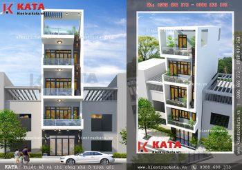 Mẫu thiết kế nhà phố 5 tầng đẹp tại Cầu Giấy – Mã số: NP 55053
