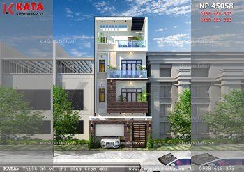 Mẫu nhà lô phố 4 tầng hiện đại tại Ninh Bình – Mã số: NP 45058