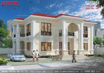 Mẫu biệt thự nhà vườn 2 tầng đẹp mái Thái – Mã số: BT 27037