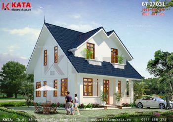 Mẫu nhà biệt thự mini 2 tầng 80m2 tại Hà Nội – Mã số: BT 27031