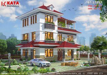 Mẫu biệt thự 3 tầng đẹp hiện đại tại Quảng Ninh – Mã số: BT 37057