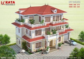 Nhà 3 tầng mái thái đẹp tại Nam Định – Mã số: BT 36132