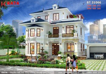 Nhà mái Thái 3 tầng hiện đại tại Nghệ An – Mã số: BT 31066