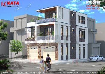 Mẫu biệt thự hiện đại 3 tầng mặt tiền 10m tại Phú Thọ – Mã số: BT 36154