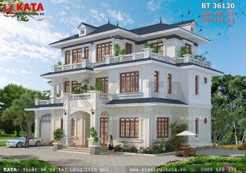 Mẫu nhà 3 tầng mái Thái đẹp hiện đại tại Lào Cai – Mã số: BT 36130