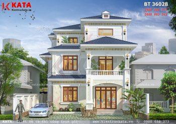 Mẫu nhà biệt thự đẹp 3 tầng tại Móng Cái – Mã số: BT 36028