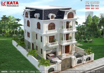 Mẫu biệt thự 4 tầng tân cổ điển tại Thanh Hóa – Mã số: BT 41023