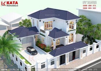 Mẫu nhà biệt thự mini 2 tầng hiện đại tại Đồng Nai – Mã số: BT 21022