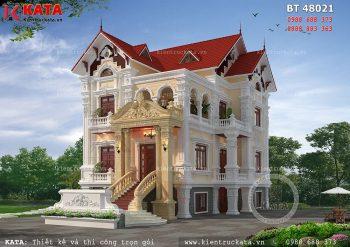 Mẫu thiết kế biệt thự 3 tầng tân cổ điển tại Nam Định – Mã số: BT 48021