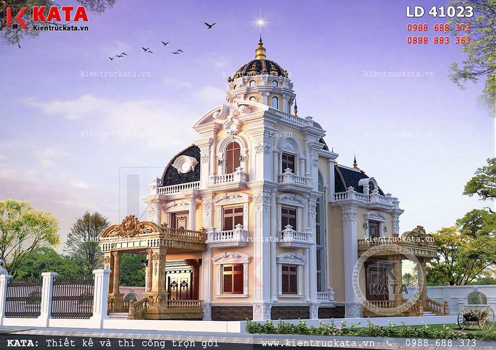 Biệt thự lâu đài đẹp 3 tầng tại Nam Định - Mã số: LD 41023