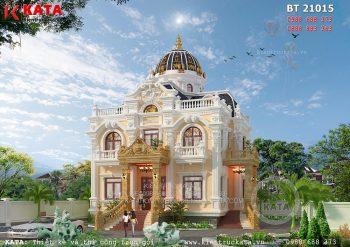 Mẫu nhà biệt thự 2 tầng kiến trúc lâu đài tại Hải Dương – Mã số: LD 21015