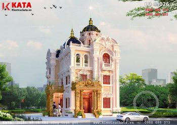 Biệt thự kiểu lâu đài 3 tầng cổ điển Pháp tại Thái Bình – Mã số: LD 48026