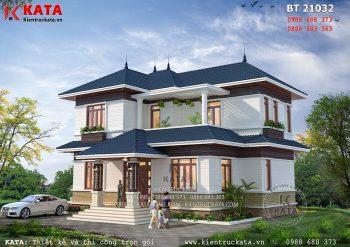 Mẫu thiết kế biệt thự 2 tầng đẹp tại Vĩnh Phúc – Mã số: BT 21032