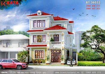 Biệt thự kiểu pháp 3 tầng tại Quảng Ninh – Mã số: BT 36032