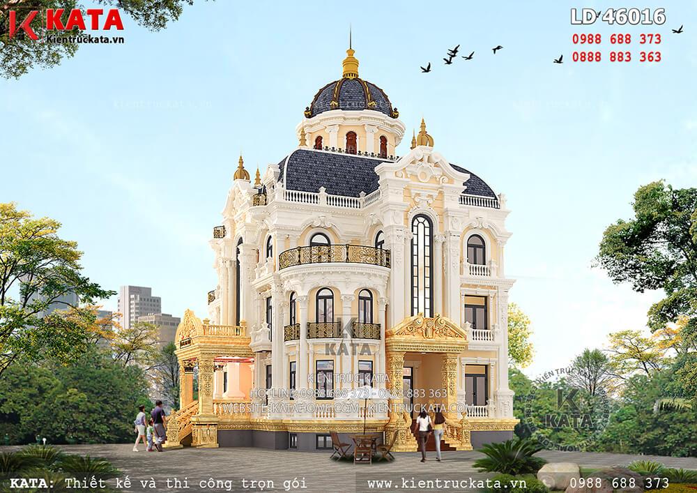 Biệt thự lâu đài 3 tầng kiến trúc Pháp tại Hà Nội - Mã số: LD 46016