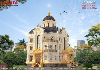 Biệt thự lâu đài 3 tầng kiến trúc Pháp tại Hà Nội – Mã số: LD 46016