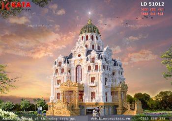 Mẫu dinh thự lâu đài 5 tầng lớn nhất Việt Nam – Mã số: LD 51012