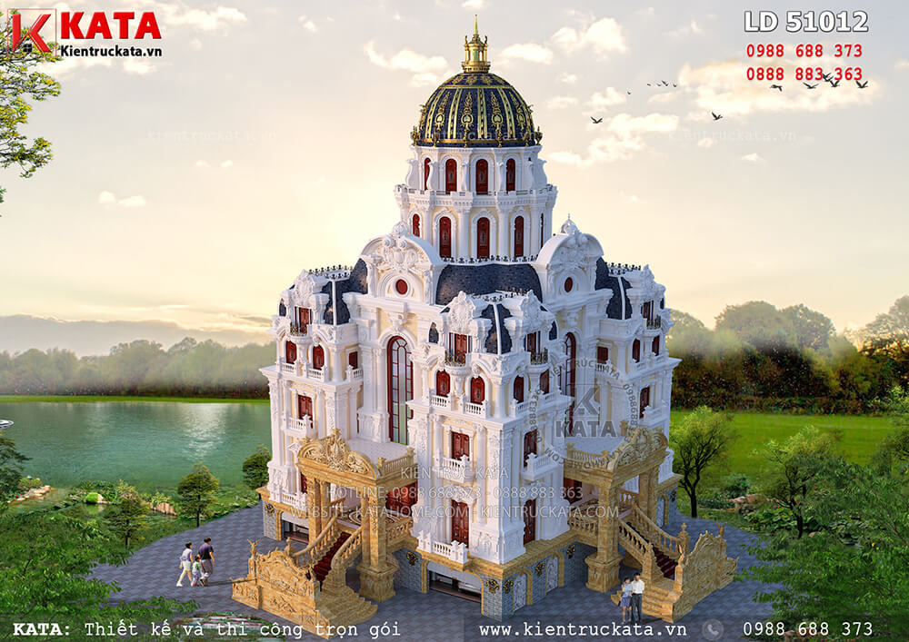 Mẫu dinh thự lâu đài 5 tầng lớn nhất Việt Nam - Mã số: LD 51012