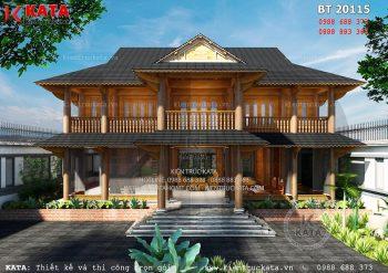Mẫu nhà sàn 2 tầng đẹp tại Bình Phước – Mã số: BT 20115
