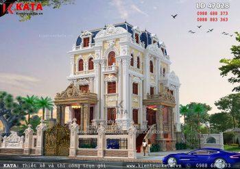 Thiết kế biệt thự 4 tầng tân cổ điển tại Hà Nội – Mã số: LD 47028