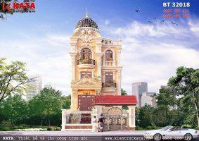 Biệt thự lâu đài 3 tầng kiểu Pháp tại Thanh Hóa – Mã số: BT 32018