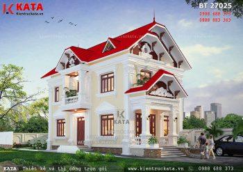 Thiết kế biệt thự 2 tầng kiến trúc Pháp tại Bắc Ninh – Mã số: BT 27025