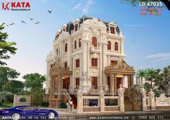 Thiết kế lâu đài 4 tầng cổ điển tại Hải Dương – Mã số: LD 47025