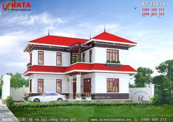 Mẫu biệt thự 2 tầng mái thái tại Quảng Ninh – Mã số: BT 25034